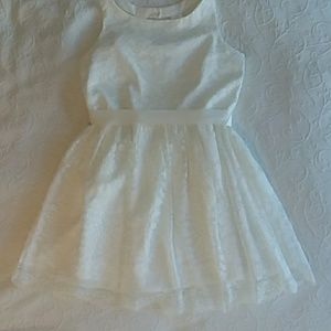 White Lace First Communion/ Flower Girl Dress
